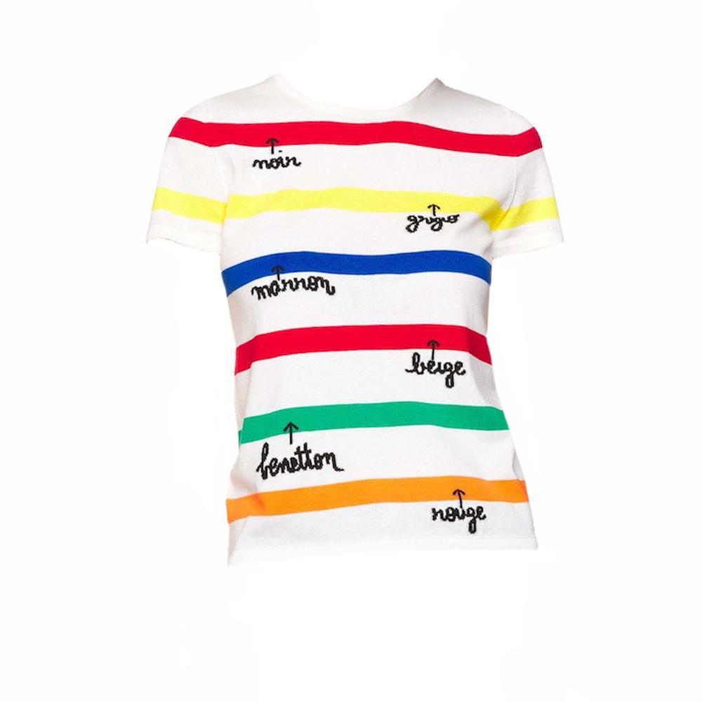 Camiseta de punto de rayas