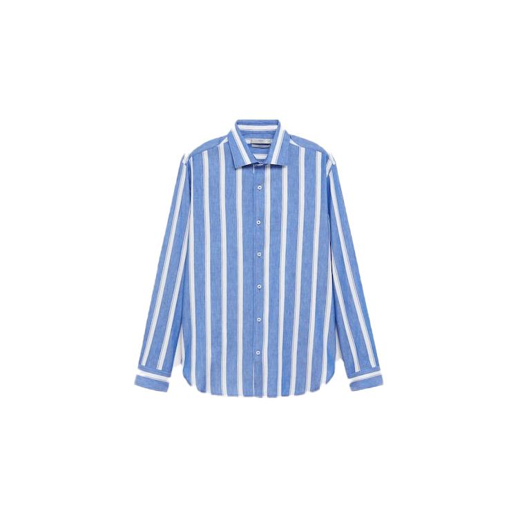 Camisa de rayas de algodón
