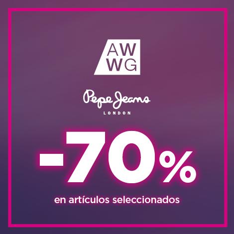 PEPE JEANS: 70% EN ARTÍCULOS SELECCIONADOS