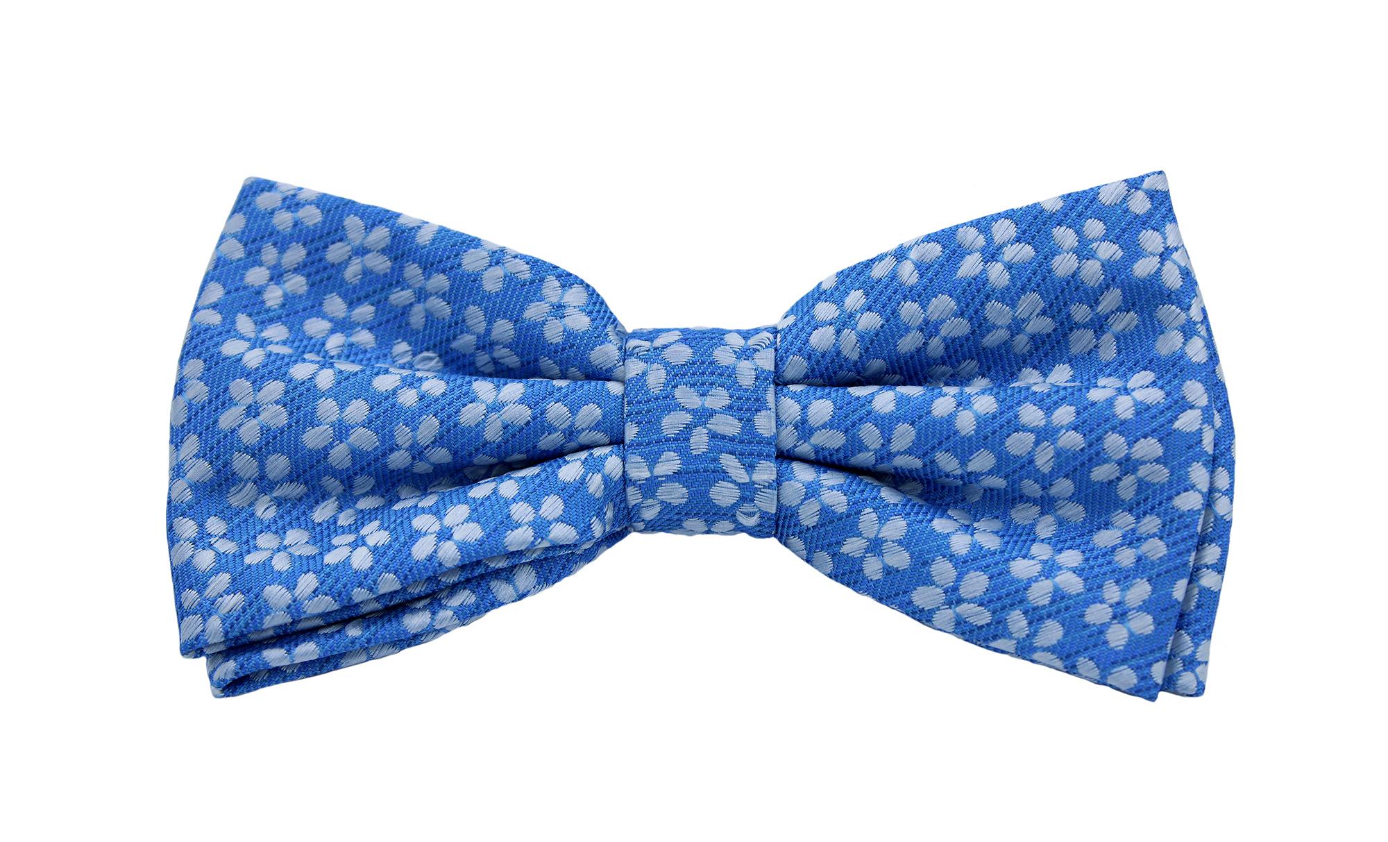 Pajarita azul celeste con motivo floral 23.11.20 - 29.11.20