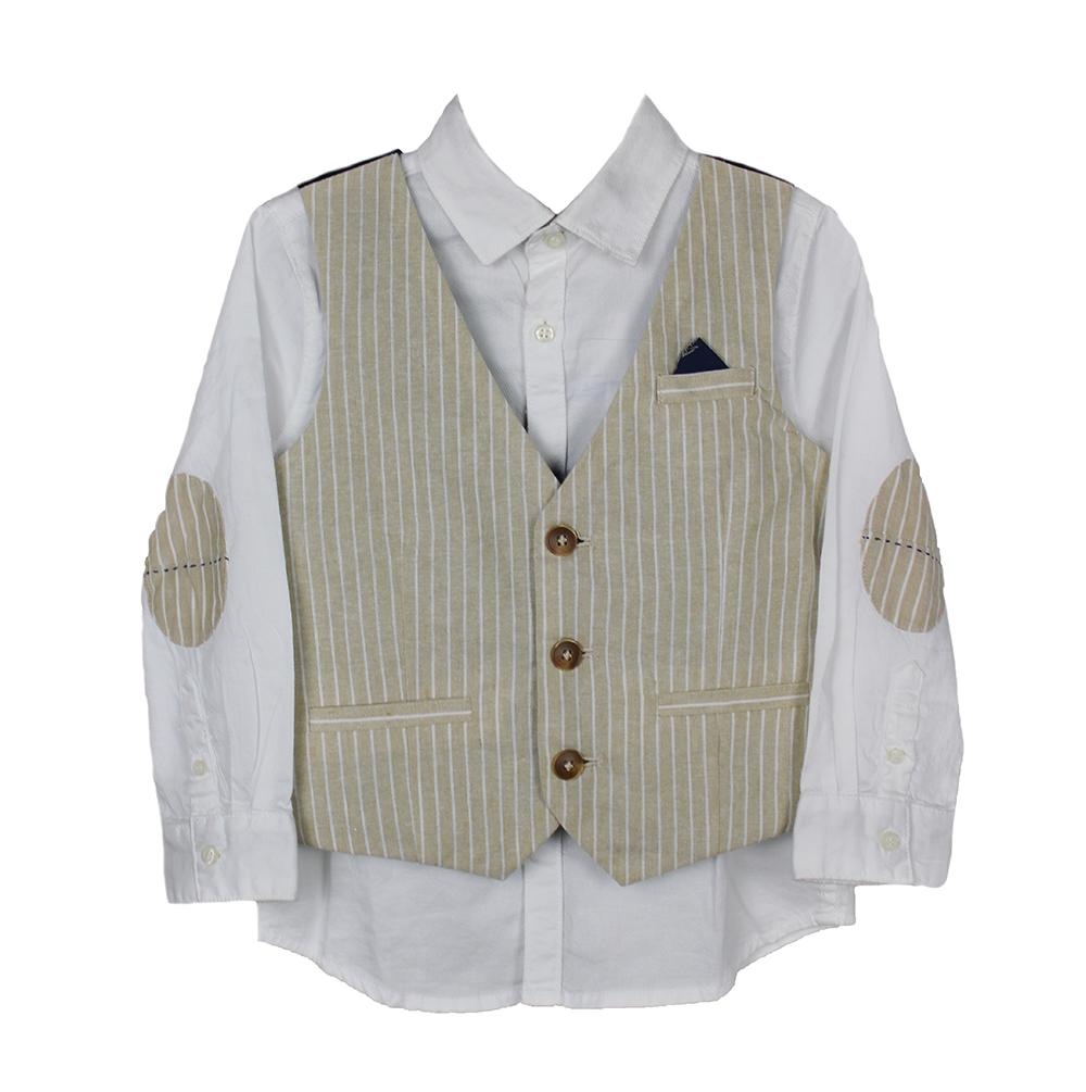 Conjunto camisa y chaleco para niño