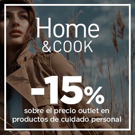 15% sobre el precio outlet en productos de cuidado personal