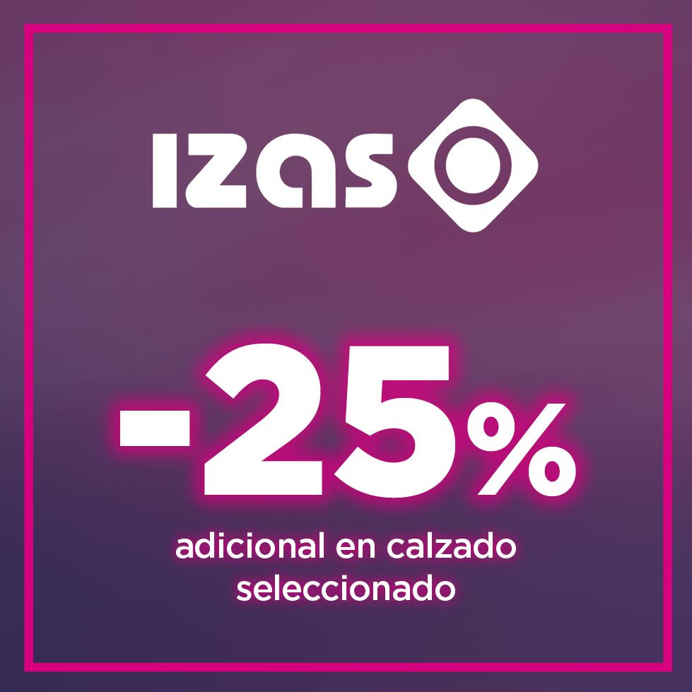 25% en calzado seleccionado