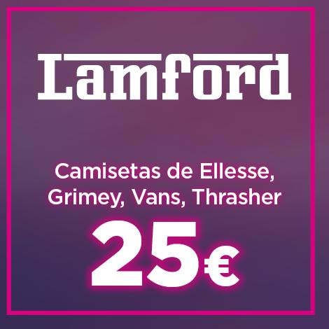 Camisetas de marca Ellesse, Grimey, Vans y Thrasher por 25 euros