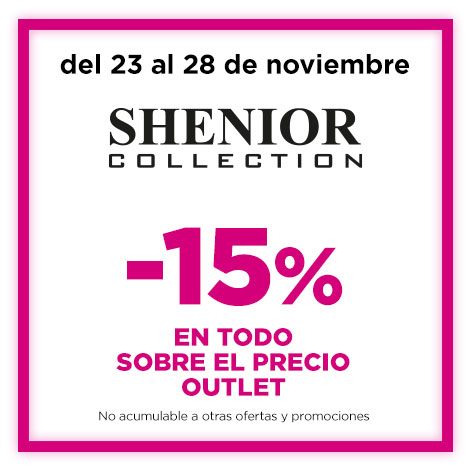 15% extra sobre PV Outlet