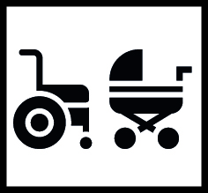 Loan of wheelchairs and baby strollers