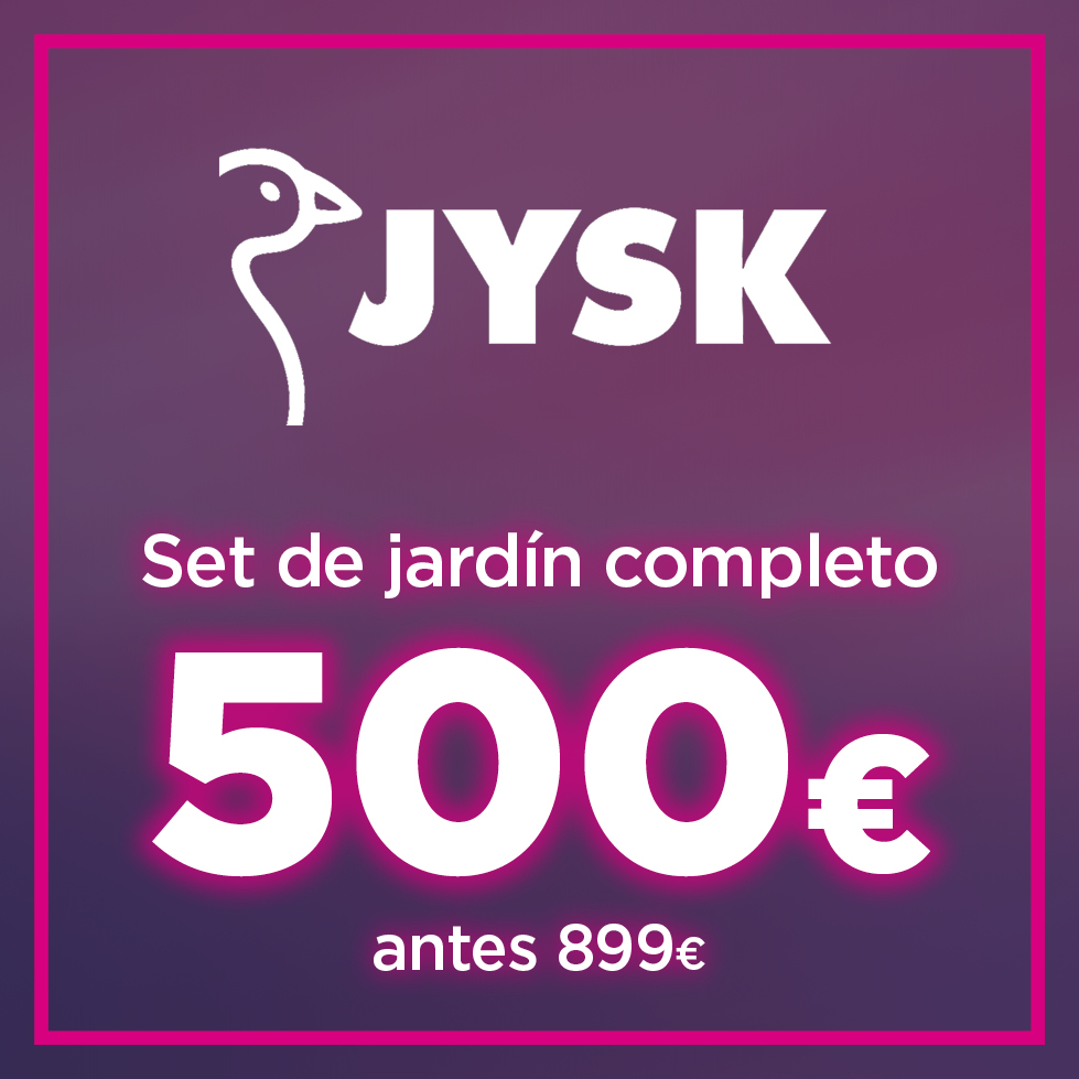 Oferta especial: set de jardín completo por 500 euros